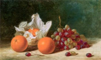 Still Life with Oranges and Grapes | Albert F. King | oil painting