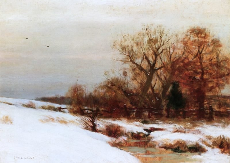 A Winters Day   Bruce Crane   oil painting