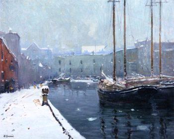 T Wharf | Arthur Clifton Goodwin | oil painting