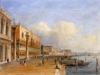 View of Venice from the Riva deli Schiavoni | Carlo Grubacs | oil painting
