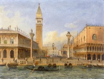 View of Venice from the Riva deli Schiavoni   Carlo Grubacs   oil painting