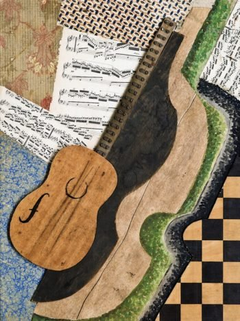 Composition with Guitar | Bohumil Kubišta | oil painting
