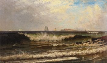Breaking Waves | Alfred Thompson Bricher | oil painting