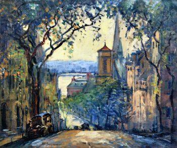 Mount Vernon Street | Arthur Clifton Goodwin | oil painting