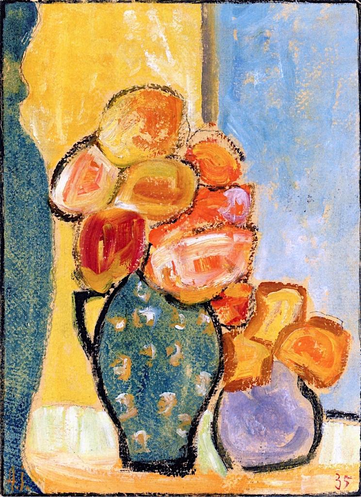 Still Life with Three Flower Vases | Alexei von Jawlensky | oil painting