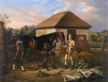 The Stable Yard | Albrecht Adam | oil painting