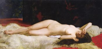 Reclining Nude | Alphonse Lecadre | oil painting
