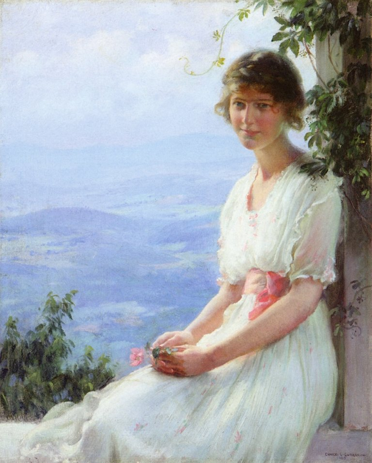 In the Mountains | Charles Courtney Curran | oil painting