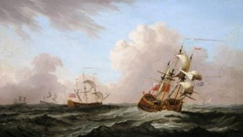 A Squadron at Sea | Peter Monamy | oil painting