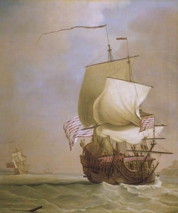 An English East Indiaman | Peter Monamy | oil painting
