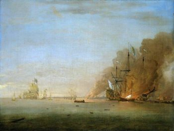 Destruction of the Soleil Royal at the Battle of La Hogue