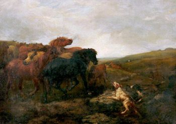 Dartmoor Ponies | Arthur James Stark | oil painting
