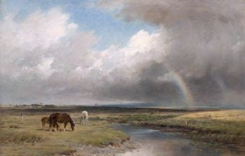 Pastoral Landscape with Rainbow | William Darling McKay | oil painting