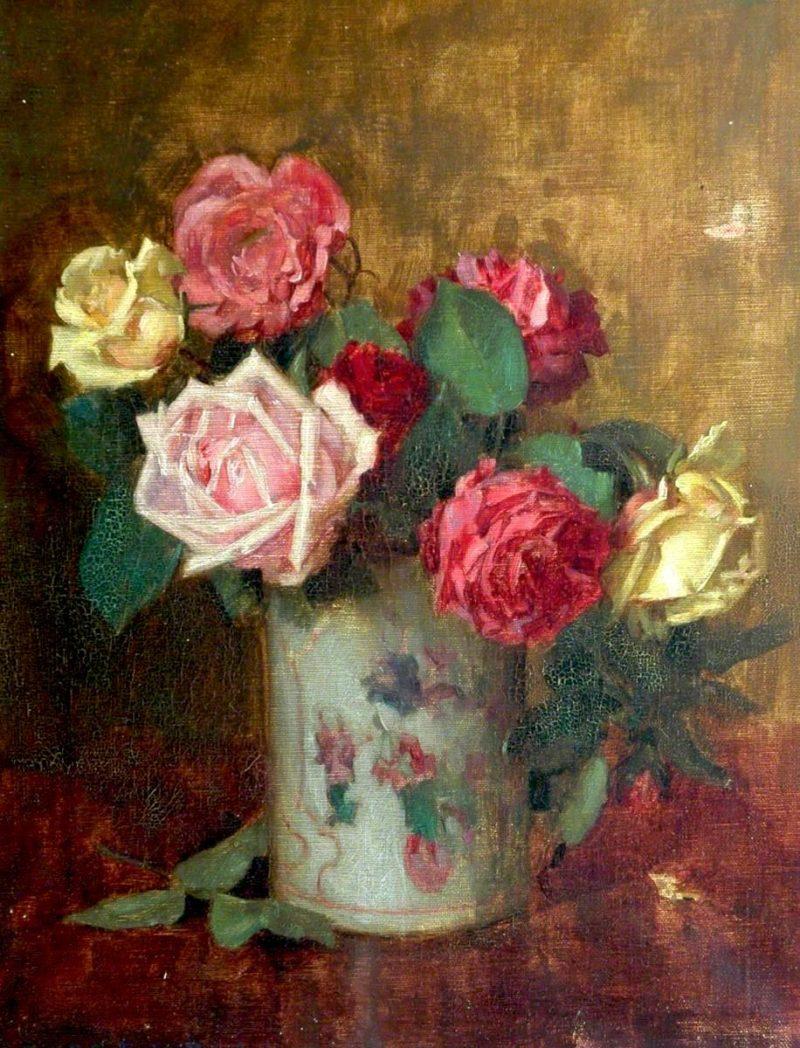 Roses | Ernest Higgins Rigg | oil painting