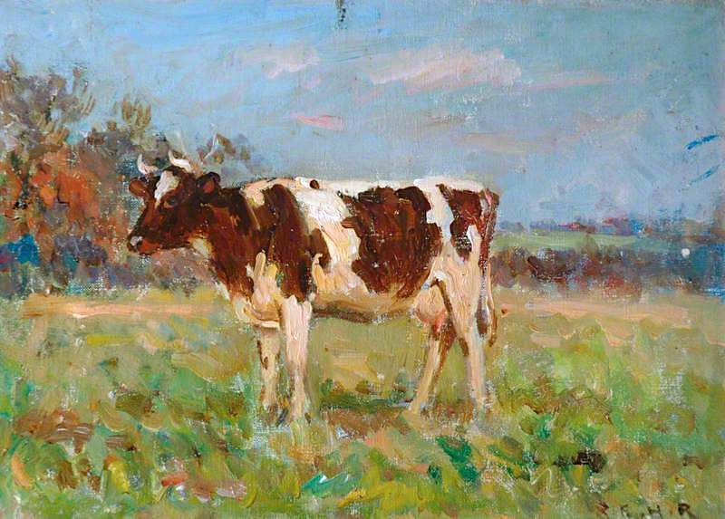 Friesian Cow | Ernest Higgins Rigg | oil painting