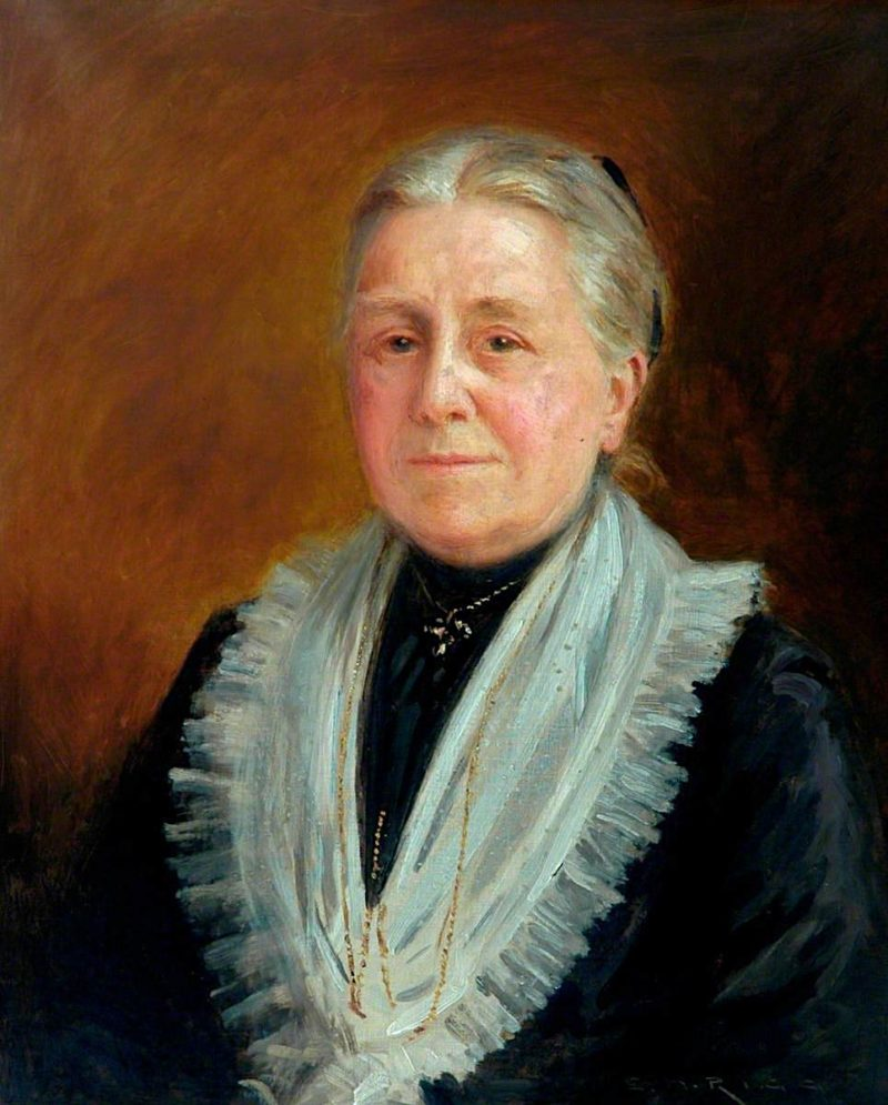 Mrs Mary Anna Foster | Ernest Higgins Rigg | oil painting