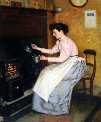 Quiet Hour | Ernest Higgins Rigg | oil painting