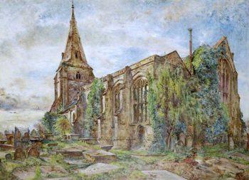 Bebington Church | William Huggins | oil painting