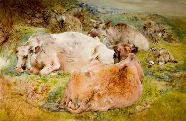 Cattle and Sheep | William Huggins | oil painting