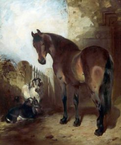 Horse and Goats | William Huggins | oil painting