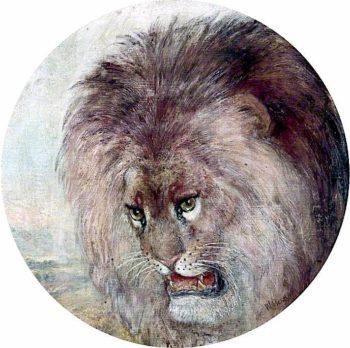 Lion | William Huggins | oil painting