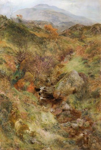 Sheep by a Mountain Stream | William Huggins | oil painting