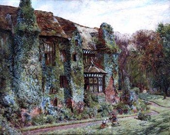 Speke Hall   William Huggins   oil painting