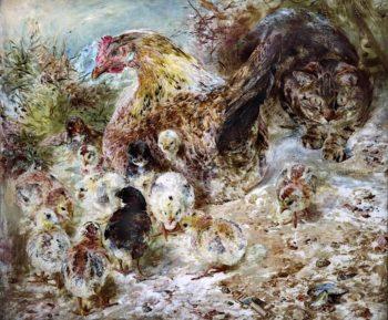 The Raider   William Huggins   oil painting