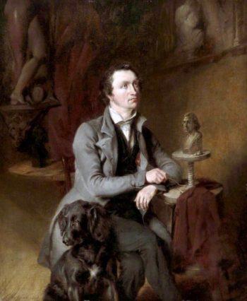 The Sculptors Studio   William Huggins   oil painting