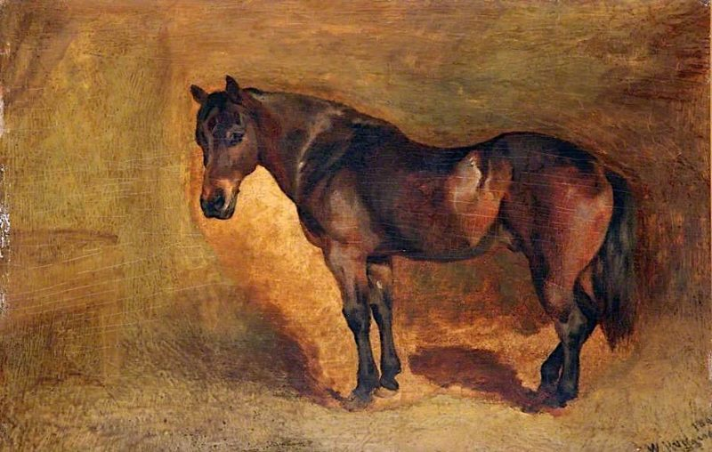 Waiting | William Huggins | oil painting