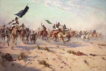 The Flight of the Khalifa after His Defeat at the Battle of Omdurman