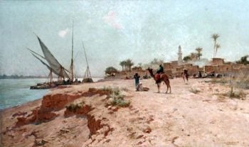 A Nile Village | Robert George Talbot Kelly | oil painting