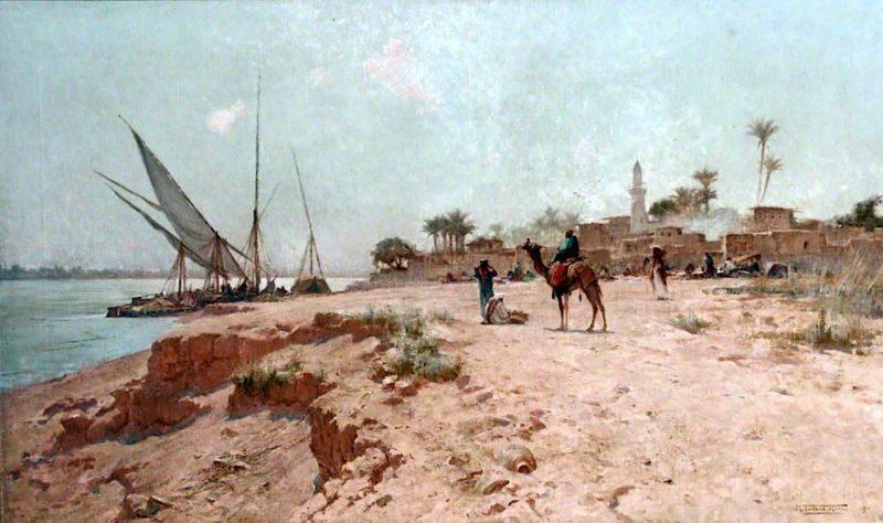 A Nile Village | Robert George Talbot Kelly | oil painting
