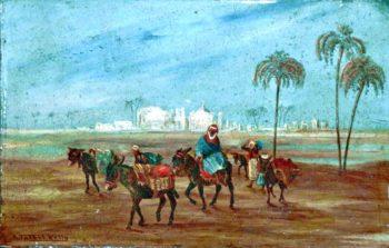 North African Scene   Robert George Talbot Kelly   oil painting