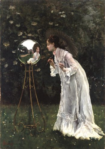 The Silver Ball | Alfred emile Leopold Stevens | oil painting