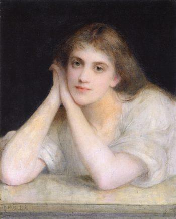 Reverie   Charles Edward Halle   oil painting