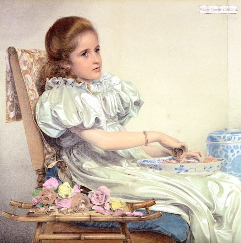 Portrait of Miss Doris Simonette Catto | Anthony Frederick Sandys | oil painting