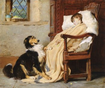 Old Playfellows | Briton Riviere | oil painting