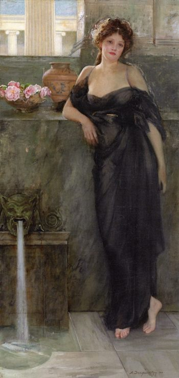 Contemplation   Arthur Dampier May   oil painting