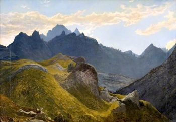 Mountain Landscape | Edward Hargitt | oil painting