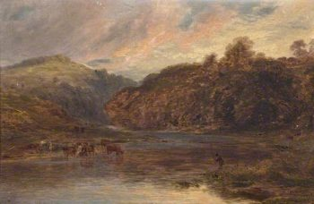 River Landscape | Edward Hargitt | oil painting