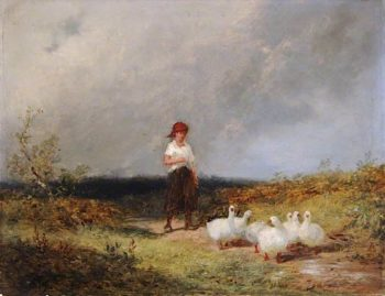 The Goose Girl | Edward Hargitt | oil painting