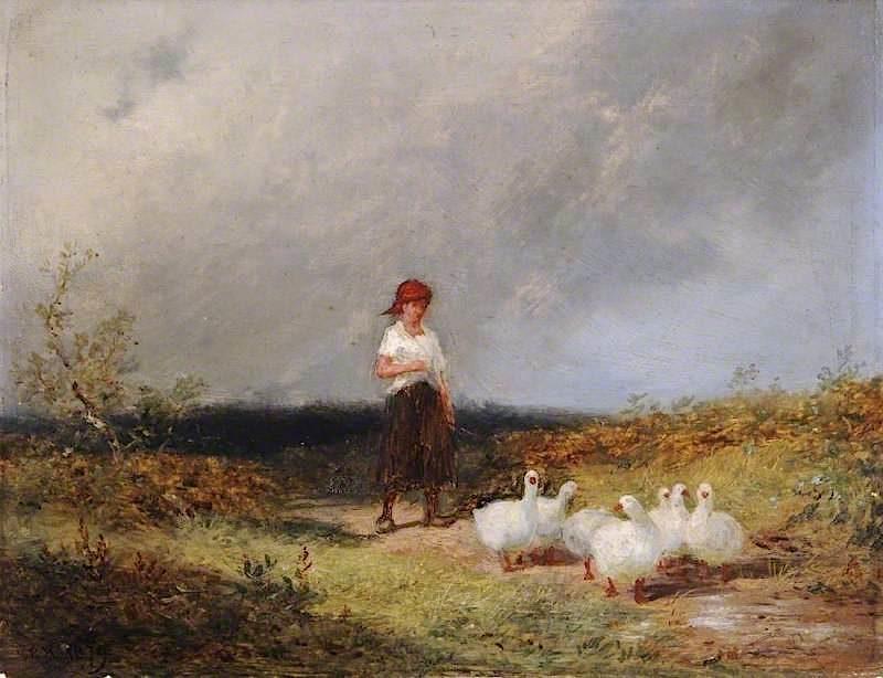 The Goose Girl | Edward Hargitt | oil painting