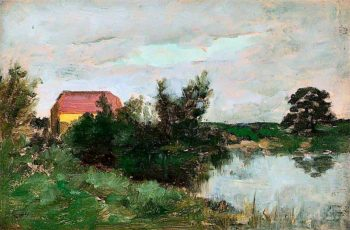 A Lake Scene | William York MacGregor | oil painting