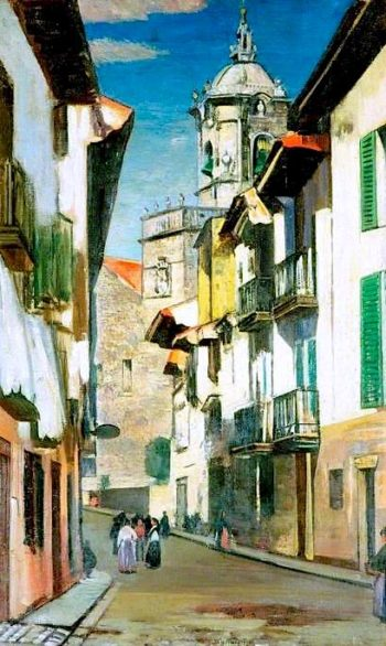 A Street in Fuenterrabía | William York MacGregor | oil painting