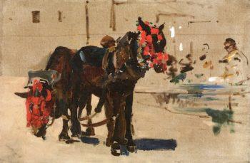 La Toilette des Mules | Arthur Melville | oil painting