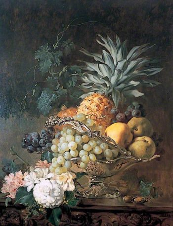 Still Life with Fruit and Flowers | Annie Feray Mutrie | oil painting