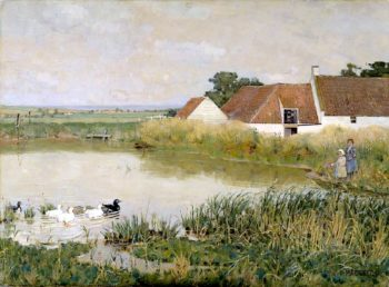 The Mill Pond | William York MacGregor | oil painting