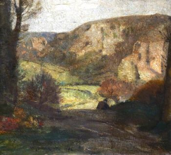 The Quarry (sketch) | William York MacGregor | oil painting