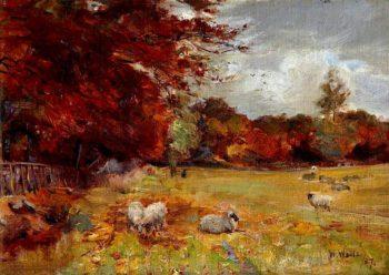 Autumn Scene   William Walls   oil painting